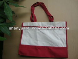 Hot Sales Custom Tag Reusable Shopping Tote Bag, High Quality Promotion Non Woven Shopping Bag