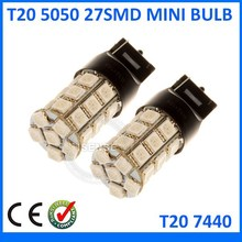 t20 auto led lighting 7440/7443 27smd 5050