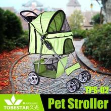 Pet Stroller Cat Dog Cage 4 Wheels Stroller Travel Folding Carrier