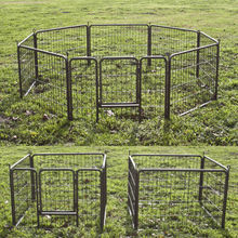 Mesh metal dog playpens