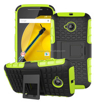 NEW hard protective dual layer tough rugged hybrid case for MOTO E2