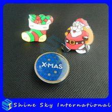 Popular Christmas Party Supplies Hohoho/Snow Man/Christmas Tree Led Pin