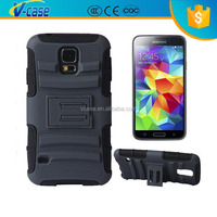 V CASE New Hybrid Hard Stand Clip Belt Holder Holster Ballistic Hard Case Cover For Samsung galaxy S5 I9600