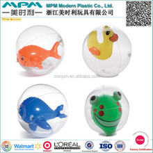 EN71 standard promotional inflatable 3D beach ball, inflatable beach ball with animal inside