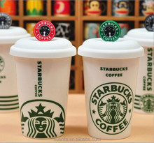 new product ceramic cups with doll head cover tea cup with lid
