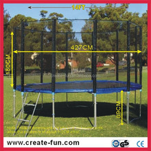 CreateFun Outdoor Exercise Fitness Equipment Gymnastic Safety Net And Ladder Trampoline Bed