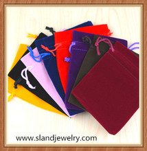 Custom printed velvet drawstring pouch fabric gift bags wholesale jewelry velvet pouch