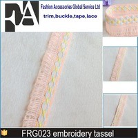 high quality textile accessories embroidery cotton fringe for curtain