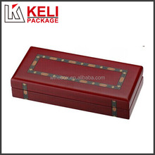 High quality Glossy painted applique wooden coin box