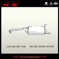 Strong material hatchback exhaust muffler for generator