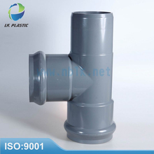 8010 PVC fittings with rubber ring two faucet one insert regular tee