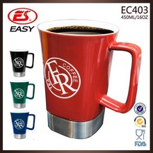 Factory direct sale cheap price big ceramic tea cup with printing logo