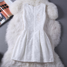 Summer women dress large size women's lace vest skirt small fragrant wind solid color tutu fairy