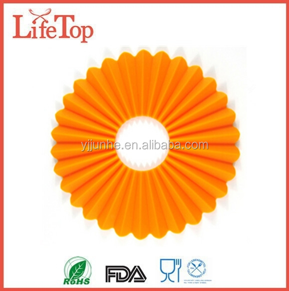 Novelty Round Silicone Pot Mat Cup Coaster Silicone ...