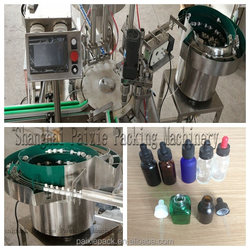 high quality e-liquid glass bottle filling capping machine china supplier