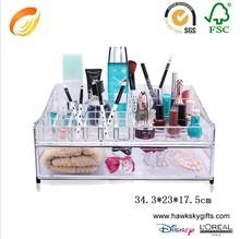 China manufacture 3 drawer fashion girl acrylic makeup organizer