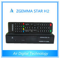 Linux HD zgemma-star h2 satellite receiver combo dvb s2 dvb t2 with upgrade iclass 9696x pvr