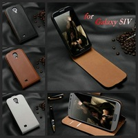 Hot selling genuine leather mobile phone case for Samsung Galaxy S4 I9500 all-around protection drop shipping