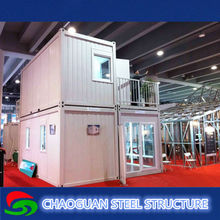 2015 modern luxury 2 storey prefab house low cost prefabricated container house for sale