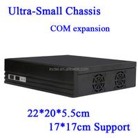 factor mini itx type horizontal U.S. version of the Mini-ITX motherboard small chassis E350 Black HD mini Car PC HTPC case