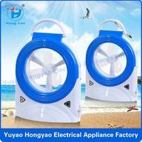 Low price portable led emergency light rechargeable mini table electric fan / rechargeable standing led fan CE HY-8829