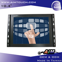 10.4 inch 4:3 Open Frame LCD digitizer 1024x768 Resistive Touch Screen Monitor