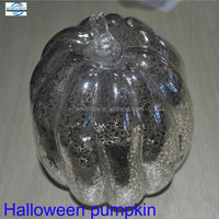 glass halloween pumpkin decoration from China factory