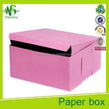Decorative wedding cake box design swiss roll cake box