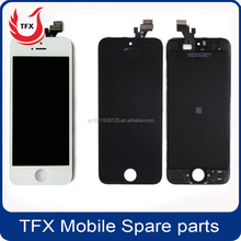 Discout for Touch Screen for iphone 5G, white/black color for iphone4/4S/5/5C/5S/6/6P lcd display ,for iphone 5G assembly