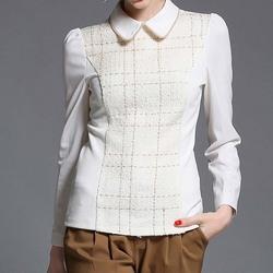 NZ2904 custom wholesale cotton ladies office blouses