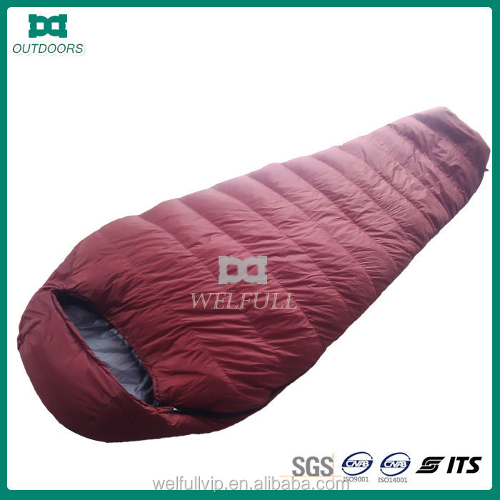 China top manufacturer for duck down sleeping bag can pass test EN13537