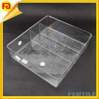 2015 hot new high quality fridge organizer/plastic storage box/plastic tray with dividers