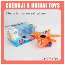 Baby plastic toy electric airplane