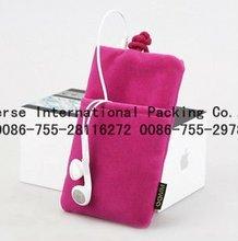 2012 new desgin velvet pouch for cell phone