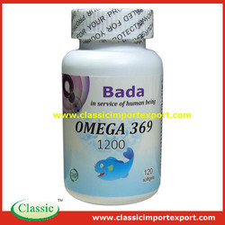 GMP Certified Halal Omega 369 softgel capsules with Fish oi & Flaxseed oil & borage oil Private label