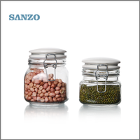 Kitchenware Wholesale Sealing Glass Storage Jar with Clips