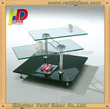 2014 high gloss frosted white tempered glass dining table/glass and brass dining tables/dining room table stainless steel