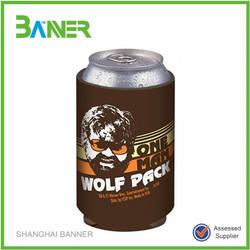 Promotion Popular printed foldable beer cooler stubby Neoprene Cans Holder