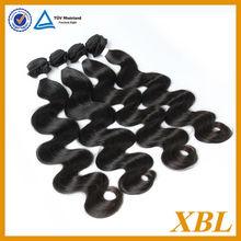Natural human hair body wave 7a European hair black label hair product
