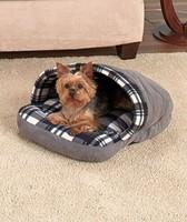 shoes shape Black Plaid Slipper Pet Bed