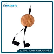 custom retractable earphones ,H0T186 oem retractable earphones in stock , retractable earphone reel earphone