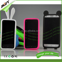 Silicone bumper case,mobile phone silicon cover,cheap price mobile phone rabbit silicon bumper case fit for all phone models