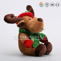 Top Selling Soft animated musical christmas Plush Deer Toy