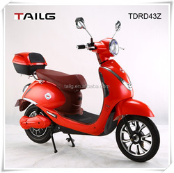China wholesale mobility Tailg 350w small electric motorcycle with pedals moped lady scooter for sale