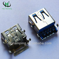 Micro usb charging port stamping cover