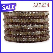 popular fashion buckle leather wrap bracelet