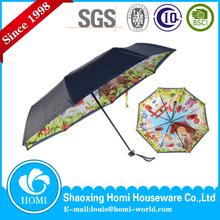 Shaoxing Homi Umbrella Manufacturer Custom Folding Umbrella Blue Sky