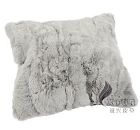 CX-D-27 50X50cm Handmade Rabbit Fur Cushion Cheap Sofa Cover