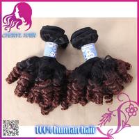 Alibaba Aliexpress cheap virgin Indian human hair for micro braids color #T1b/33 funmi curl on sale
