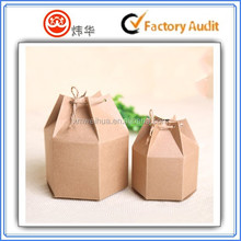 wholesale customized Hexagon kraft paper box packaging , tea ,cookie or dry food packing